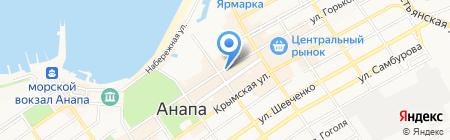 Светлана на карте Анапы