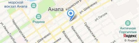 Привет на карте Анапы