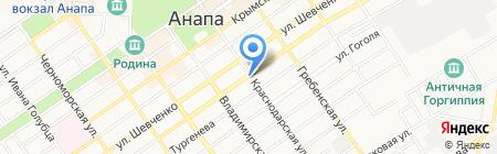 Анапа-Строймаркет на карте Анапы