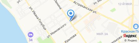 Экспресс-кафе на карте Анапы