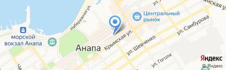 Продуктовый магазин на Гребенской на карте Анапы