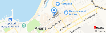 Русский лён на карте Анапы