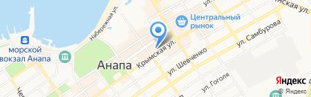 Библиотека им. А.С. Пушкина на карте Анапы