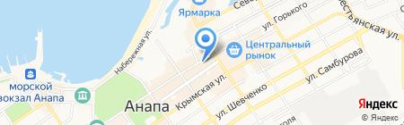 Золотов-Серебров на карте Анапы