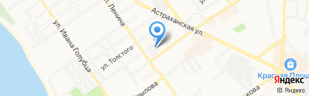 Сан-пласт на карте Анапы