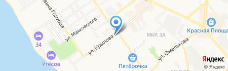 Клиника Новиченко на карте Анапы