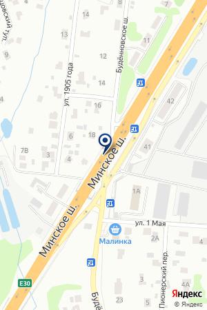 СКЛАДСКАЯ БАЗА МАТВЕЕВСКИЙ ТЕРМИНАЛ на карте Одинцово