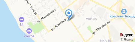Славянский на карте Анапы
