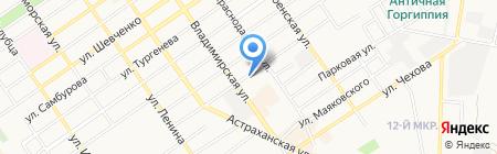 Абзац на карте Анапы