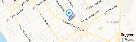 Магазин солнечных очков на карте Анапы