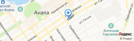 Продовольственный магазин на ул. Самбурова на карте Анапы