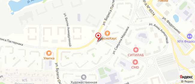 Карта расположения пункта доставки Москва Бориса Пастернака в городе Москва