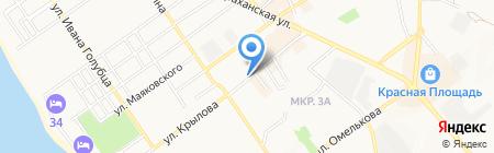 Грамотей на карте Анапы