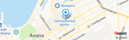 Банкомат Газпромбанк на карте Анапы