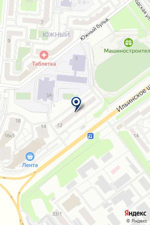КРАСНОГОРСКОЕ ПРЕДСТАВИТЕЛЬСТВО на карте Красногорска