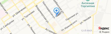 Отдел вневедомственной охраны на карте Анапы