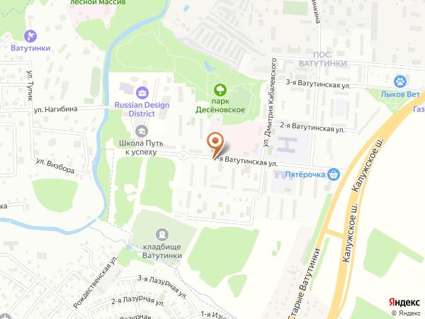 Остановка «Ватутинки-1», 1-я Ватутинская улица (1008443) (Москва)