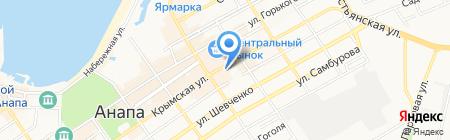 Банкомат Банк Первомайский на карте Анапы