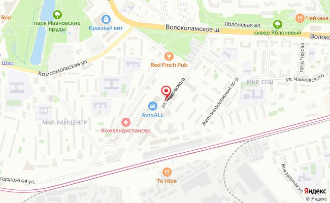 Карта расположения пункта доставки Lamoda/Pick-up в городе Красногорск