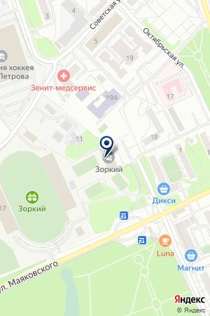 НП ХОККЕЙНЫЙ КЛУБ ЗОРКИЙ на карте Красногорска