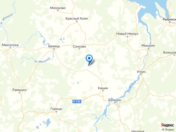деревня Фролово на карте