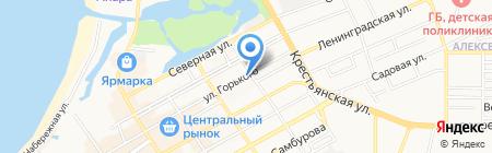 Адрес + на карте Анапы