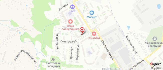 Карта расположения пункта доставки Химки Центральная в городе Химки