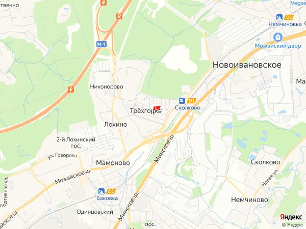 Карта посёлок Трёхгорка