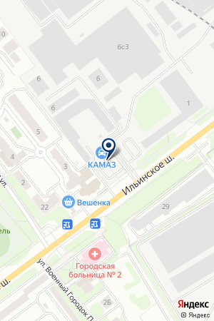АВТОЦЕНТР КАМАЗ на карте Красногорска