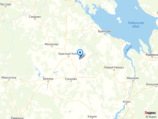 деревня Новое Рощино на карте