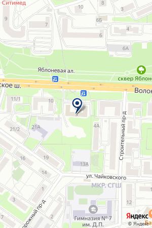 КРАСНОГОРСКОЕ МЕДИЦИНСКОЕ УЧИЛИЩЕ на карте Красногорска