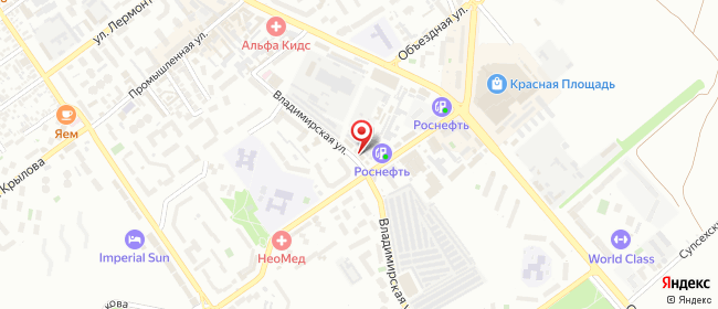 Карта расположения пункта доставки EXPRESS.RU в городе Анапа