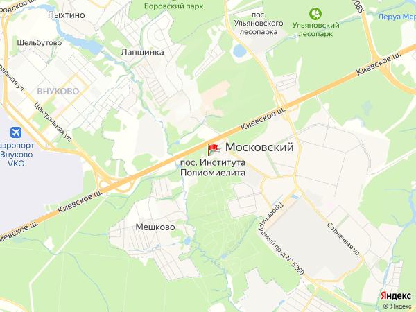 Карта посёлок Института Полиомиелита