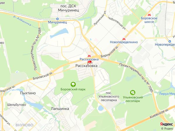 Карта населенный пункт Рассказовка