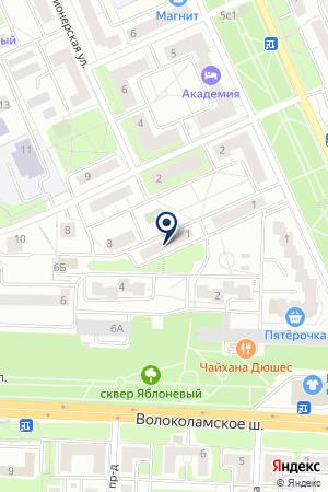 МОНТАЖНО-НАЛАДОЧНОЕ ПРЕДПРИЯТИЕ ЛИБЕРАЛ-М на карте Красногорска