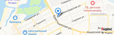 Продуктовый магазин на Крестьянской на карте Анапы