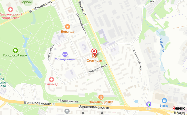 Карта расположения пункта доставки Телепорт в городе Красногорск