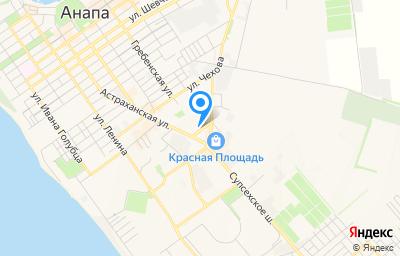 Местоположение на карте пункта техосмотра по адресу Краснодарский край, г Анапа, ул Объездная, д 40