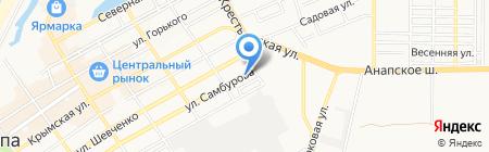 Адвокатский кабинет Нарыжного А.Н. на карте Анапы