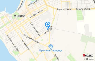 Местоположение на карте пункта техосмотра по адресу Краснодарский край, г Анапа, ул Чехова, д 69