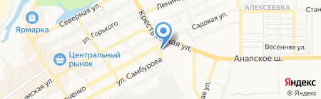 Анапа-СтройБизнес на карте Анапы