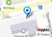 Средняя общеобразовательная школа №16 на карте