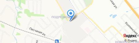 Автосервис на Комсомольской на карте Химок