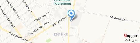 Алкомир на карте Анапы