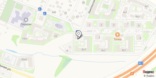 Новостройки. Схема проезда в Ромашково