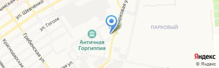 Детали машин ГАЗ на карте Анапы