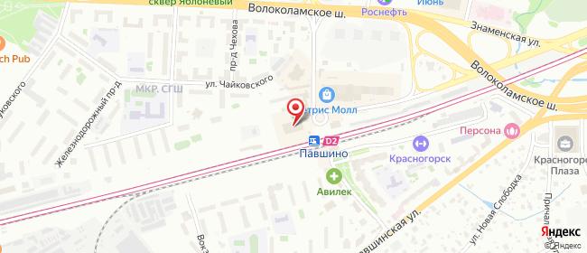 Карта расположения пункта доставки Красногорск Железнодорожный в городе Красногорск