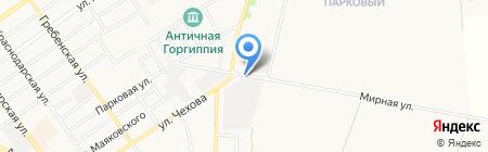 Ритуальное агентство на ул. Чехова на карте Анапы