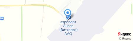 Витязево на карте Анапы