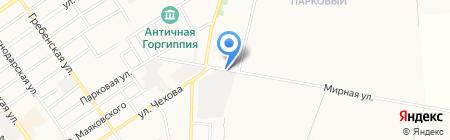 Уральский мрамор на карте Анапы